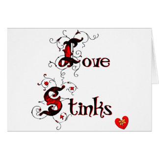 Love Stinks Anti-Valentine's Day Saying Card