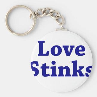 Love Stinks Basic Round Button Keychain