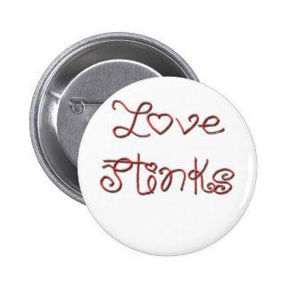 Love Stinks Cute Red Text 2 Inch Round Button