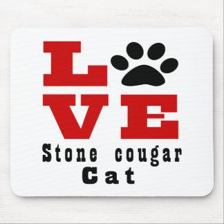Love Stone cougar Cat Designes Mouse Pad