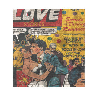 Love stories notepads