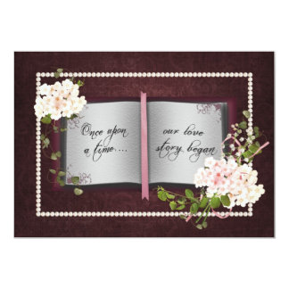 "Love Story Book- Wedding Vow Renewal 5"" X 7"" Invitation Card"