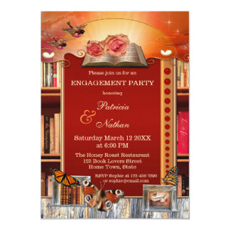 Love Story Books Engagement Party Invitation