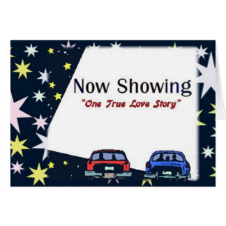 Love Story Drive In Movie Note Card