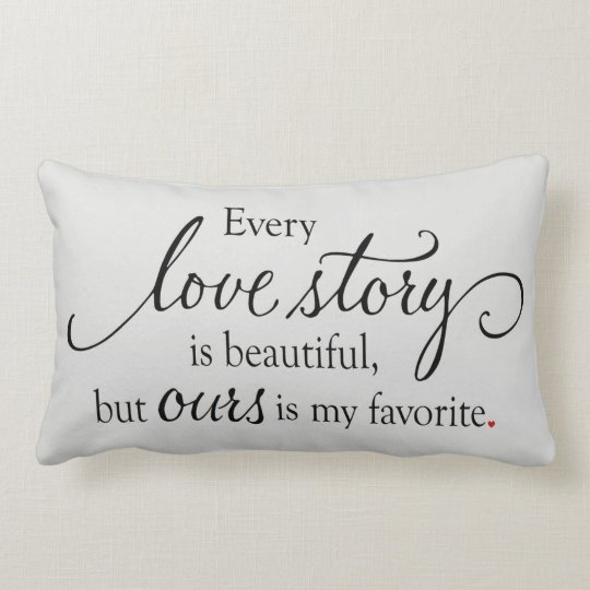 Love Story Lumbar Pillow