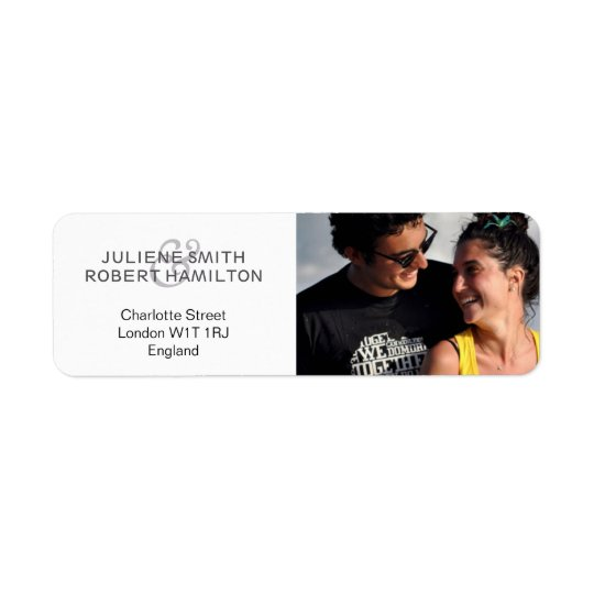 Love Story | Modern Photo Return Address Labels