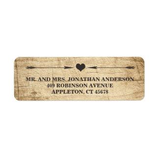 Love Story Typography Vintage Barn Wood Label