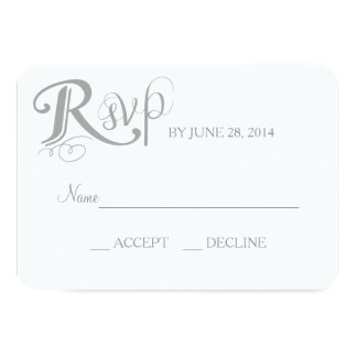 "Love Story Wedding Reply Card 3.5"" X 5"" Invitation Card"