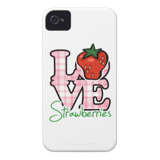 Love Strawberries iPhone 4 Cover