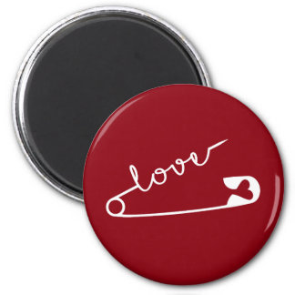 Love Strength Together Red 2 Inch Round Magnet