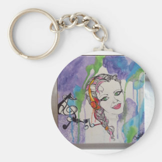 Love Struck Art Painting Basic Round Button Keychain