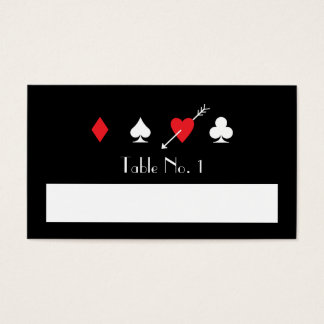 Love Struck Las Vegas Fill-In Name Table Number Business Card