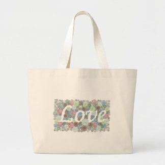 Love Succulents design Large Tote Bag