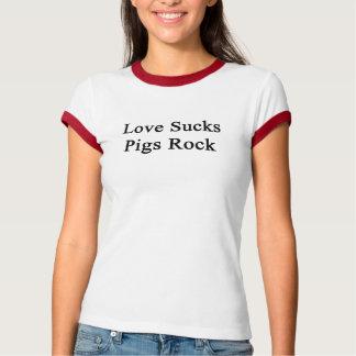 Love Sucks Pigs Rock T-Shirt