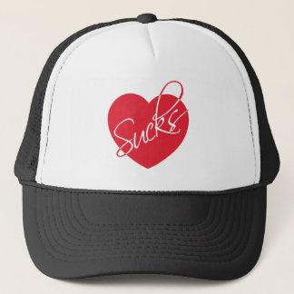 Love sucks trucker hat