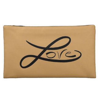 Love suede cosmetic bag