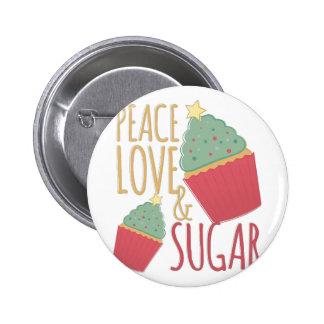 Love & Sugar 2 Inch Round Button