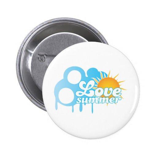 Love Summer Sunny Logo Button