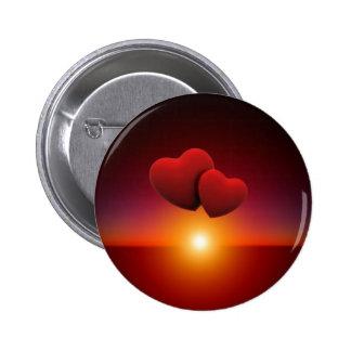 Love sunset 2 inch round button