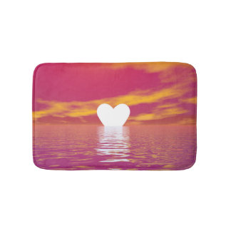 Love sunset - 3D render Bath Mat