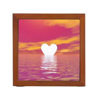 Love sunset - 3D render Desk Organizer
