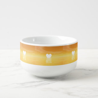 Love sunset - 3D render Soup Mug