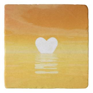 Love sunset - 3D render Trivet