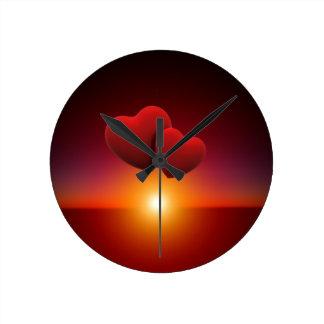 Love sunset clocks