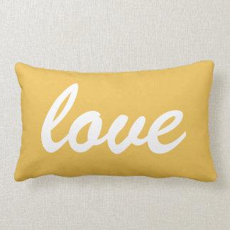 Love Sunshine Yellow New Home Gift Lumbar Pillow