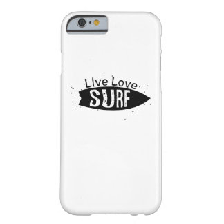 Love Surf beach surfers skaters surfing board Barely There iPhone 6 Case