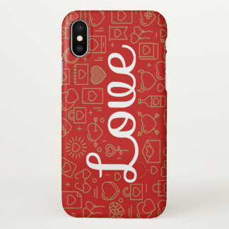 Love Surrounded by Hearts   iPhone X Case