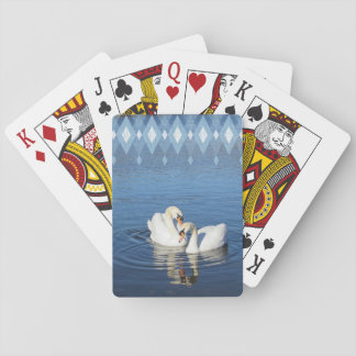Love Swans Playing Cards