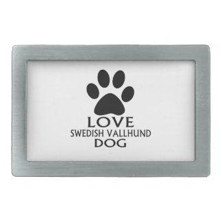 LOVE SWEDISH VALLHUND DOG DESIGNS RECTANGULAR BELT BUCKLE
