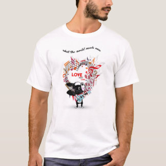 LOVE SWEET LOVE Boston Terrier  T shirt
