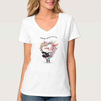 LOVE SWEET LOVE Boston Terrier  T shirt Ladies