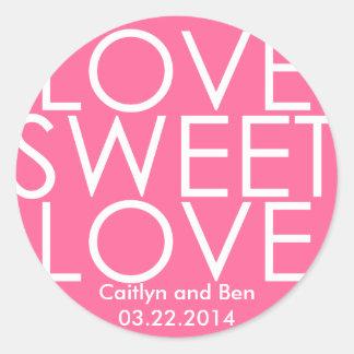 Love sweet love candy buffet sticker