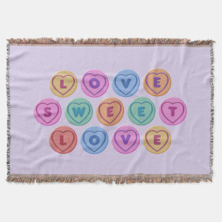 Love Sweet Love Throw Blanket