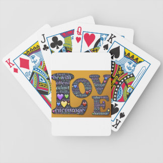 love symbol bicycle playing cards