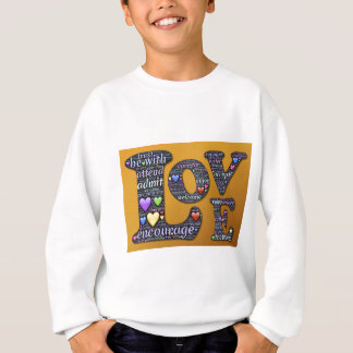 love symbol sweatshirt