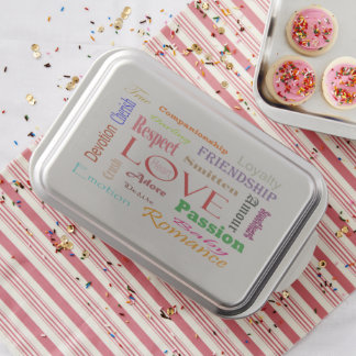 Love Synonyms by Shirley Taylor Baking Tin