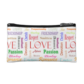 Love Synonyms by Shirley Taylor Cosmetic Bag
