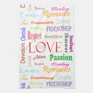 Love Synonyms by Shirley Taylor Kitchen Towel