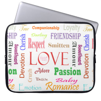 Love Synonyms by Shirley Taylor Laptop Sleeve