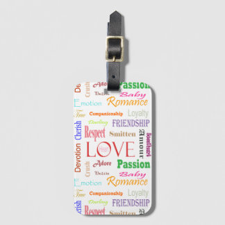 Love Synonyms by Shirley Taylor Luggage Tag