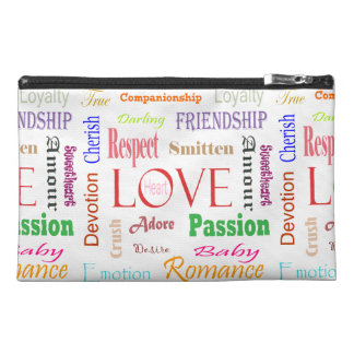 Love Synonyms by Shirley Taylor Travel Accessory Bag