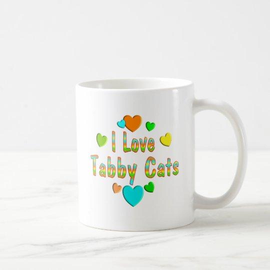 Love Tabby Cats Coffee Mug