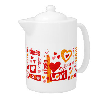 Love Talk Valentine Teapot