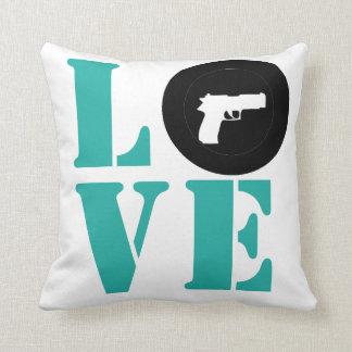 LOVE Target Throw Pillow