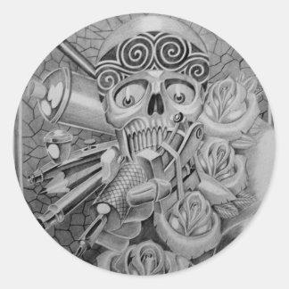 love tattoo classic round sticker
