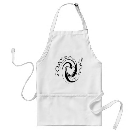 Love tattoo design apron